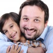 Happy father and son — Stock Photo #21366875