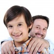 Happy father and son — Stock Photo #21366881