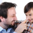 happy father and son — Stock Photo