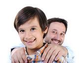 Figlio e padre felice — Foto Stock