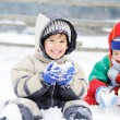 Young beautiful boy outdoor in winter — Stock Photo #21405525