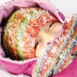Young beautiful girl outdoor in winter - Foto Stock