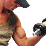 Bodybuilder strong as a rock — Stock Photo