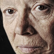 Elderly woman, close-up face — Stock Photo