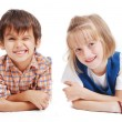Little cute girl and boy  — Stock Photo