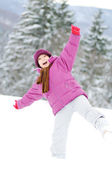 Young beautiful girl outdoor in winter — Stock Photo