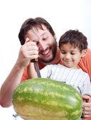 快乐的父亲和孩子 — 图库照片