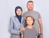 Muslim family — Stock Photo
