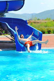 在美丽的游泳池,夏天大时间! — 图库照片