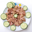 Healthy meal of tuna fish — Stock Photo