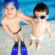 Children at pool, happiness and joy — Stock Photo #21411301