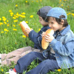 Happy children in nature outdoor — Stock Photo #21414779