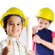 Little builders — Stock Photo