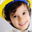 Little cute positive builder — Stock Photo #21417633