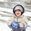 Stock Photo: Childhood on snow