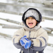 Stock fotografie: Childhood on snow