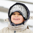 Foto Stock: Childhood on snow