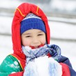Childhood on snow — Stock Photo