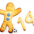 Muffin man soccer player - Lizenzfreies Foto