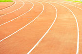 Athletic track on the stadium — Stockfoto