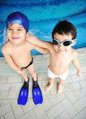 Children at pool, happiness and joy — Stock Photo