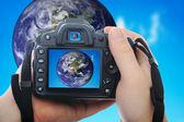 Shooting earth — Stock Photo