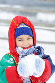 Dzieciństwo na śniegu — Zdjęcie stockowe