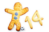 Muffin man soccer player — Stock Photo