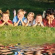 Children In Meadow  — Stock Photo