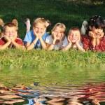 Children In Meadow — Stock Photo #21420809