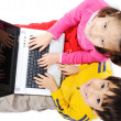 Children on laptop - Stock Photo