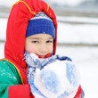 Royalty-Free Stock Photo: Child in snow