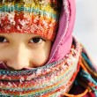Stock Photo: Cute girl winter portrait