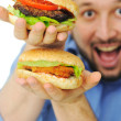 Burger, fast food — Stock Photo