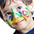 Messy face, childhood — Stock Photo #21424329