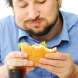 Fast food, burger and coke — Stock Photo #21425559