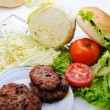 Stock Photo: Ingredients for burger