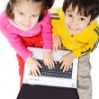 Children on laptop — Stock Photo #21427667