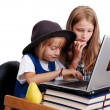 Children activities on laptop put on desk, isolated — Stock Photo #21429341
