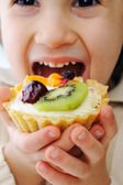 Truskawkowe ciastko — Zdjęcie stockowe