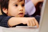 Laptop kid — Stock Photo