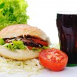Healthy and unhealthy food — Stock Photo