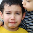 Crying kid, emotional scene — Stock Photo