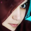 Sensual eastern, asian, arabic woman, glamure under the scarf — Stock Photo #21436067