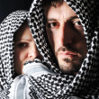 Man with arabic palestinian colors - Stockfoto