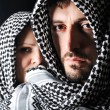 Man with arabic palestinian colors — Stock Photo #21436747