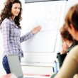 Royalty-Free Stock Photo: Female executive making  presentation to her colleagues in modern enviroment