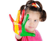 Color hands — Stock Photo