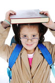 Positive mädchen mit brille — Stockfoto