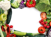Fresh vegetables, banner for your text — Stock Photo